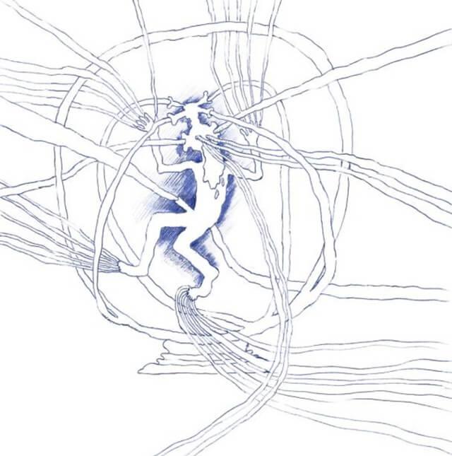 Oft beginnt Weiss mit einem Kringel, einem Pfeil, einem Kubus. Dann setzt die Wandlung ein, und das Symbol fliesst in die Form und Richtung, in die es seiner Natur nach fliessen muss. Fotos: Edition Patrick Frey