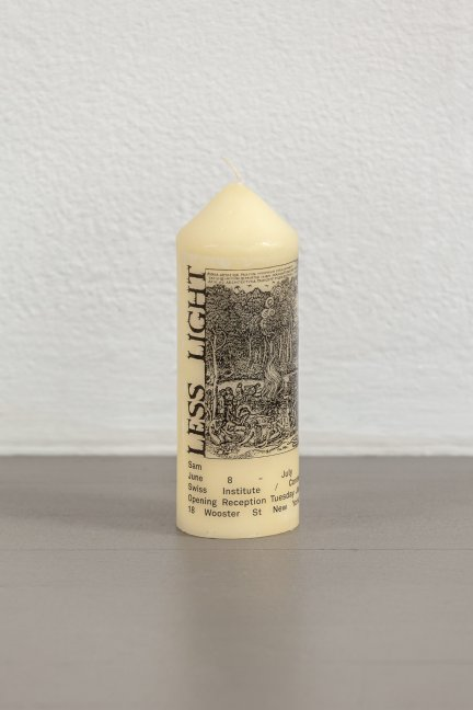 Sam Lewitt: Less Light Warm Words Candle