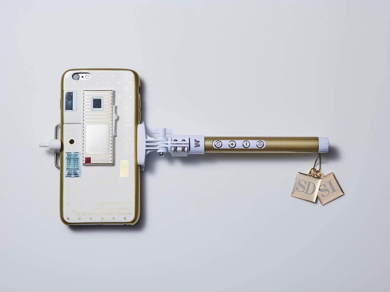 Simon Denny SI x SI Selfie Stick Luxury Tech Reissue