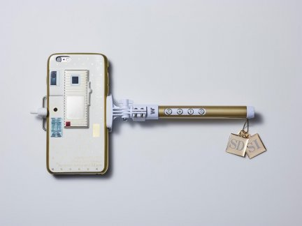 Simon Denny SIxSD Legacy Selfie Stick Luxury Tech Reissue, 2016