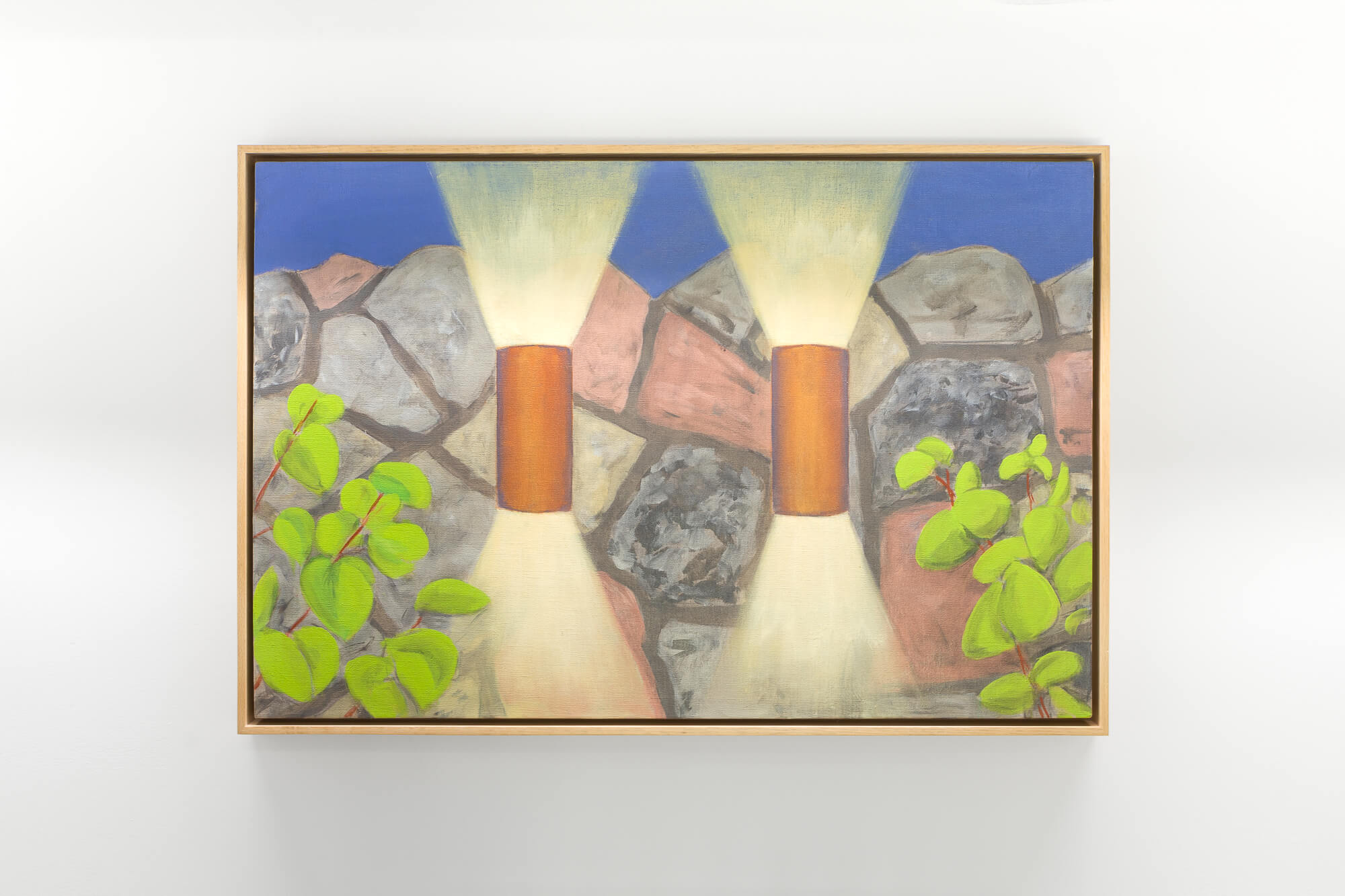 William Leavitt, Twin Wall Lights, 2011. Oil on canvas. Courtesy of the artist and Greene Naftali, New York. Swiss Institute SI ONSITE
