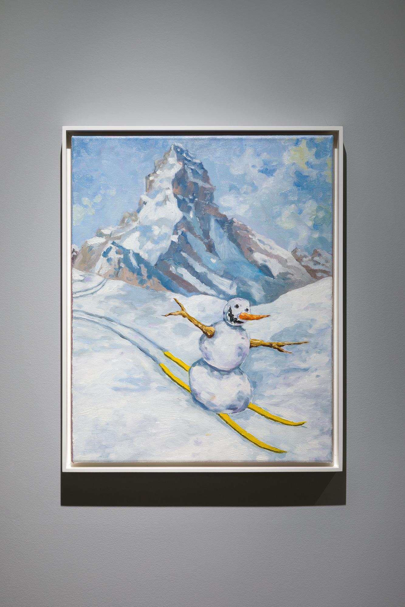Skiing Snowman: Jan Kiefer Swiss Institute