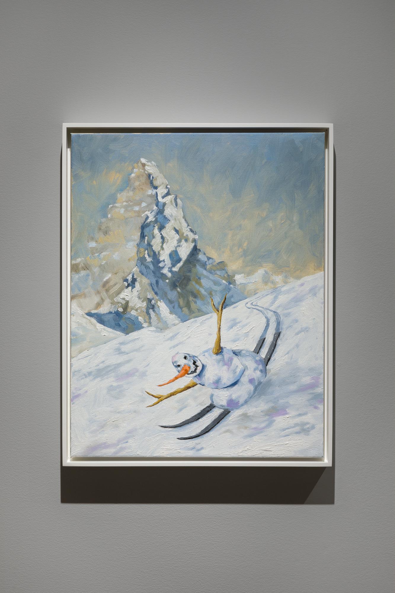 Jan Kiefer: Skiing Snowman Swiss Institute