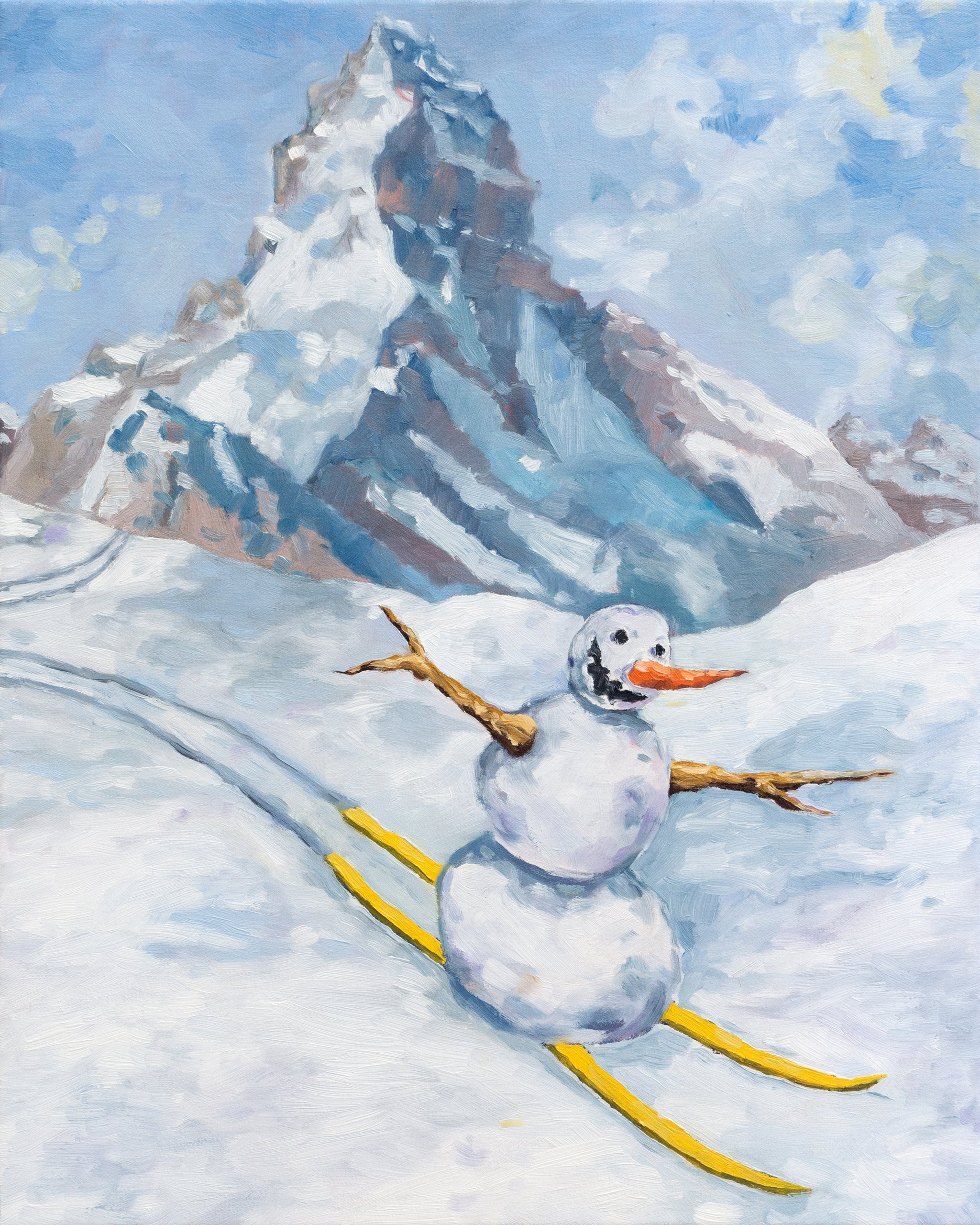 Jan Kiefer Skiing Snowman Swiss Institute
